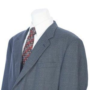 Joseph Feiss Blue Gray Glen Plaid Wool Sport Coat